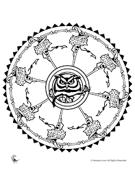 Small Picture Halloween Mandala Coloring Pages Woo Jr Kids Activities