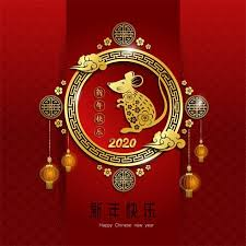 chinese new year card 2020 2020 chinese new year greeting card zodiac sign with paper