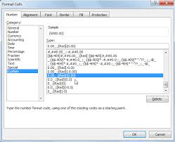 How To Show Negative Numbers In Brackets In Ms Excel