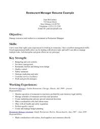 Restaurant Resume Example Restaurant Manager Resume Example httpwwwresumecareer 4