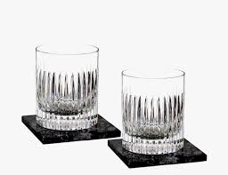 fashioned entirely of crystal these glasses were designed as an homage to turrets lining the castles of the company s native ireland