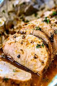 best baked pork tenderloin with garlic