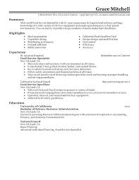 restaurant manager resume template sample for food service  restaurant