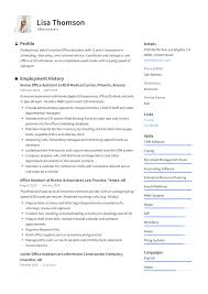 Office Admin Resume Samples Office Assistant Resume Writing Guide 12 Resume