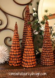 Pine Cone Christmas Decorations Somewhat Quirky Pine Cone Christmas Trees
