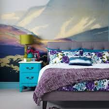 striking bedroom wall mural