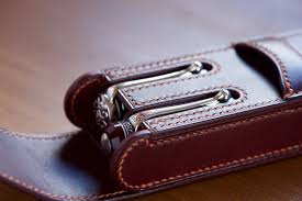 case for two fountain pens leather products yoshii pencil cases i