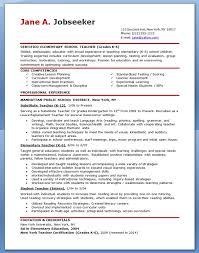 Resume Examples For Teachers Musiccityspiritsandcocktail Com