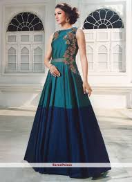 Cheap Designer Gowns Online Fascinating Silk Designer Gown In 2019 Party Wear Long