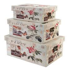 Cheap Decorative Storage Boxes Decorative Floral Storage Boxes Wooden Shabby Chic The Home 8