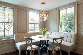 size upholstered dining