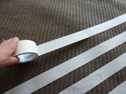 diy rug spray paint tape