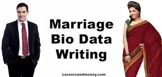Marriage Bio Data Writing Careersandmoney Com