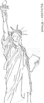 自由の女神のイラスト素材 49074756 Pixta