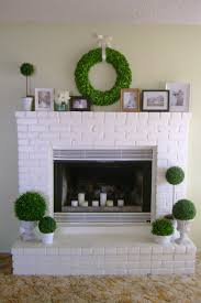 image of brick painted brick fireplace ideas small