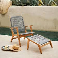 west elm outdoor furniture. Catskill Wood + Wicker Chair - Teak/Gray West Elm Outdoor Furniture Y