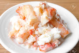 King Crab Legs Meat On White Plate ...