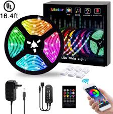 Led Strip Lights L8star 5m 16 4ft Flexible Strip Light Smd 5050 Rgb With Bluetooth Controller Changing Tape Lights Kit With Led Sync To Music For