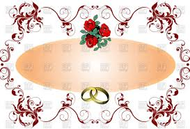 curly frame for wedding card with red flowers and wedding rings Wedding Card Frame Vector curly frame for wedding card with red flowers and wedding rings vector clipart wedding card border vector
