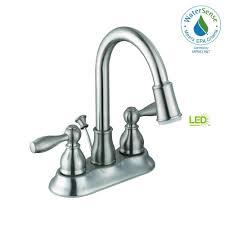 centerset 2 handle led bathroom faucet in brushed nickel