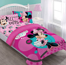 disney minnie dreaming in dots twin comforter set w fitted sheet com