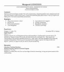 Resume Sample For Secretary Entry Level Legal Assistant Resume Examples Professional Sample