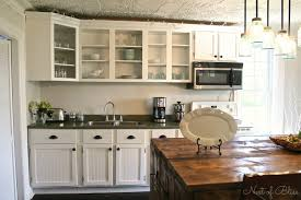 white country kitchen with budget cabinet makeover tutorial