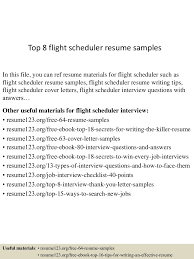 Scheduler Resume Examples