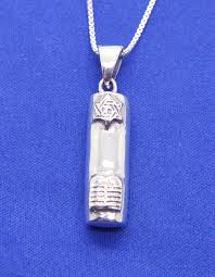 jewish mezuzah star of david scroll pendant sterling silver israel 18 necklace