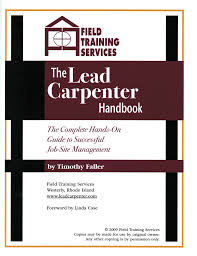 lead carpenter handbook the lead carpenter handbook cover