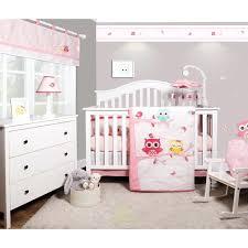 baby nursery bedding bee enchanted owls family baby girl nursery 6 piece crib bedding set reviews