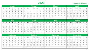 2020 16 Calendar Printable Printable Calendar 2020 16 Welcome For You To Our Website