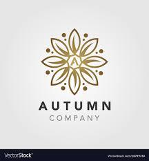 Logo Printing Design Elegant Luxury Autumn Flower Mandala Logo Design