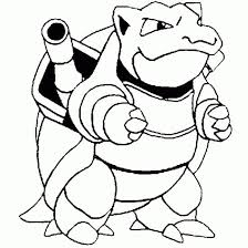 Pokemon Coloring Pages Blastoise Coloringstar
