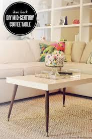 Lack Turned Mid-Century Modern Coffee Table