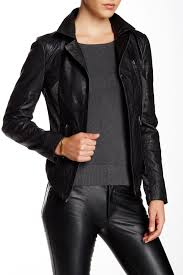 image of walter baker nori leather jacket