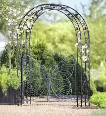 Small Picture It could be yours Metal Garden Arbor with Butterfly Gate Part