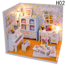 decorating furniture with paper. Baby Room Home Decoration Doll House Model Furniture DIY 3D Puzzle Kit Wooden Paper Toy Valentine\u0027s Decorating With O