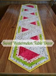 Guest blogger... Lorna and her Watermelon Table Runner tutorial ... & Lorna and her Watermelon Table Runner tutorial! — SewCanShe | Free Sewing  Patterns for Beginners Adamdwight.com