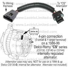 wiring conversions and modifications for classic muscle cars alternator conversion harness part vak6986cs