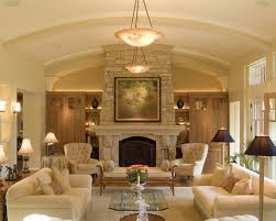Living Room Classic Design Living Room Design With Stone Fireplace Beadboard Home Bar