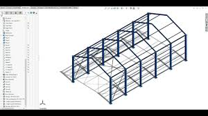Steel Shed Design Software Free Industrial Shed Design 10 20 M Span Using Solidwork As Per Is875 Part 3