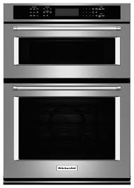 kitchenaid 27 single electric convection wall oven with built in microwave stainless steel koce507ess best