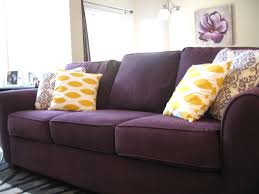 Eggplant Colored Sofa - Sleeper sofas are extremely popular, and with great  reason. The benefits of a sleeper couch are we