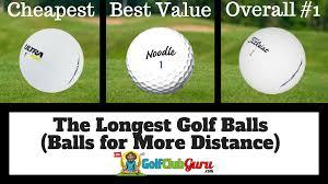 Golf Ball Spin Chart The Longest Golf Balls Best For Distance Golf Club Guru