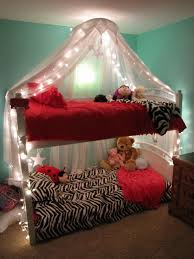 girls lighted bed canopy awesome bunkbed