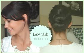 Hair Style For Long Thin Hair  easy updo for fine hair youtube 5187 by wearticles.com