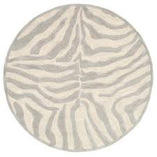 home fashion taupe silver geometric animal print rug round rugs