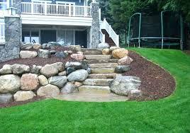 boulder retaining wall cost boulder retaining wall boulder retaining wall with limestone steps how much does boulder retaining wall cost