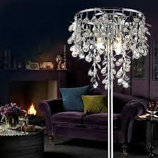 best home minimalist crystal chandelier floor lamp on possini euro chrome nest com from